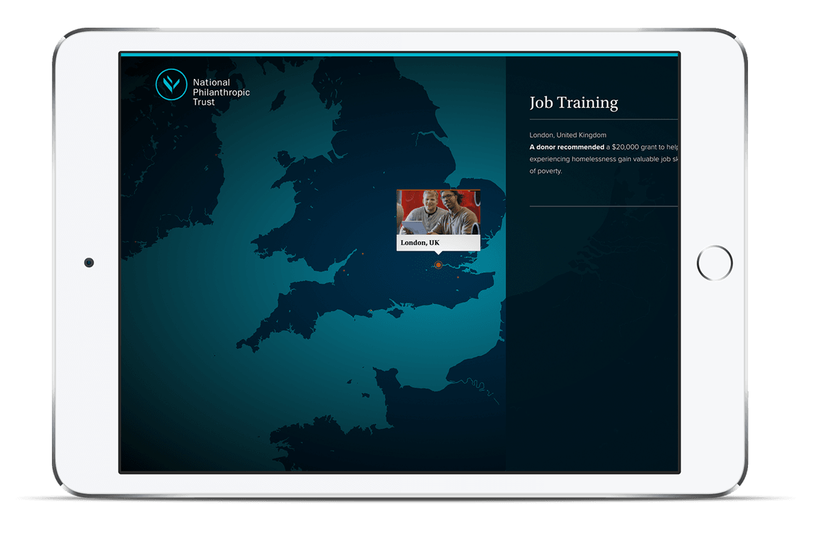 Web Design and Development for National Philanthropic Trust