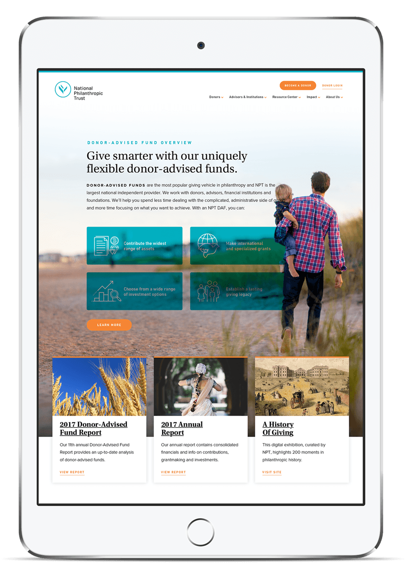 National Philanthropic Trust Web Design and Development
