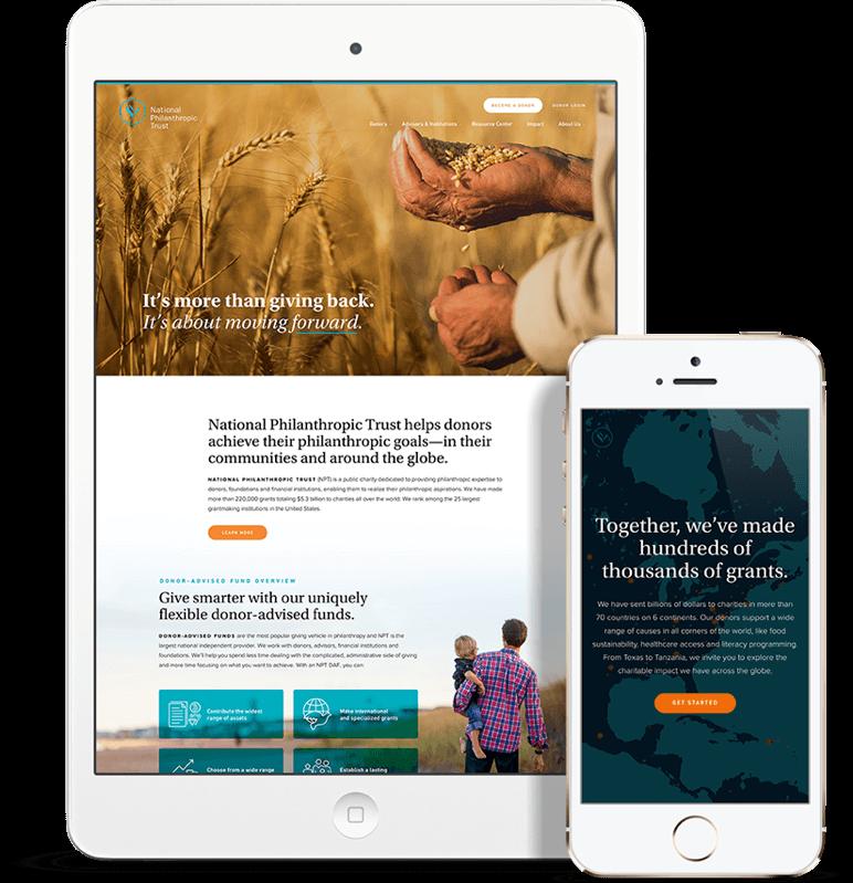 Responsive Web Design for National Philanthropic Trust