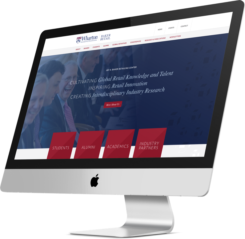 Higher Ed Web Design for Wharton