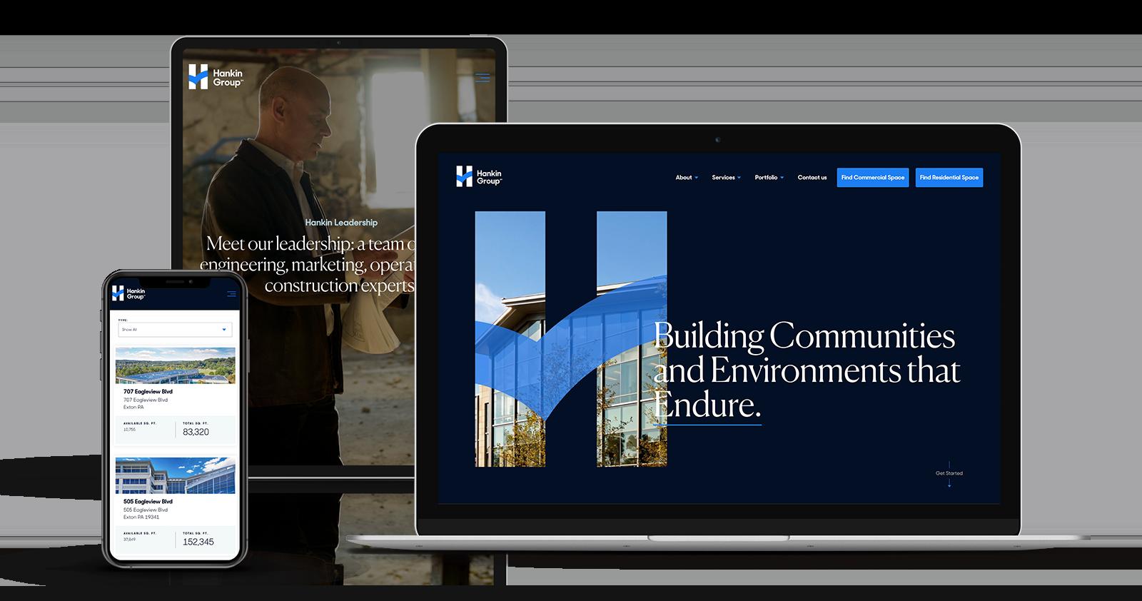 Responsive web design for Hankin
