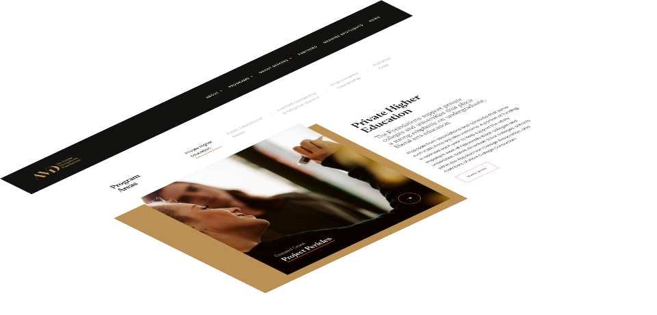 Web design for Arthur Vining Davis Foundation by Push10