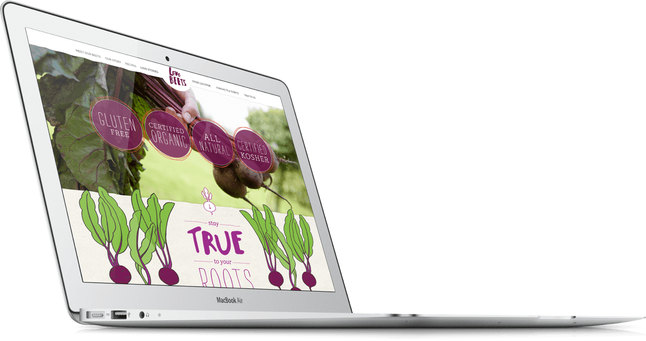 Web design for organic food and beverage