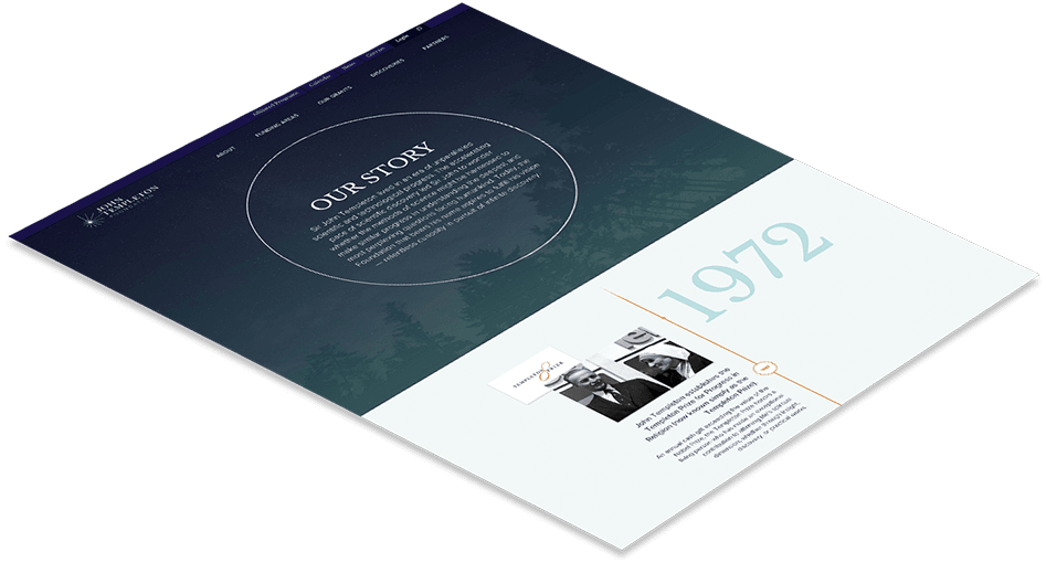 Web design timeline for John Templeton