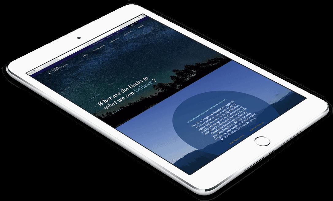 Responsive web design on tablet