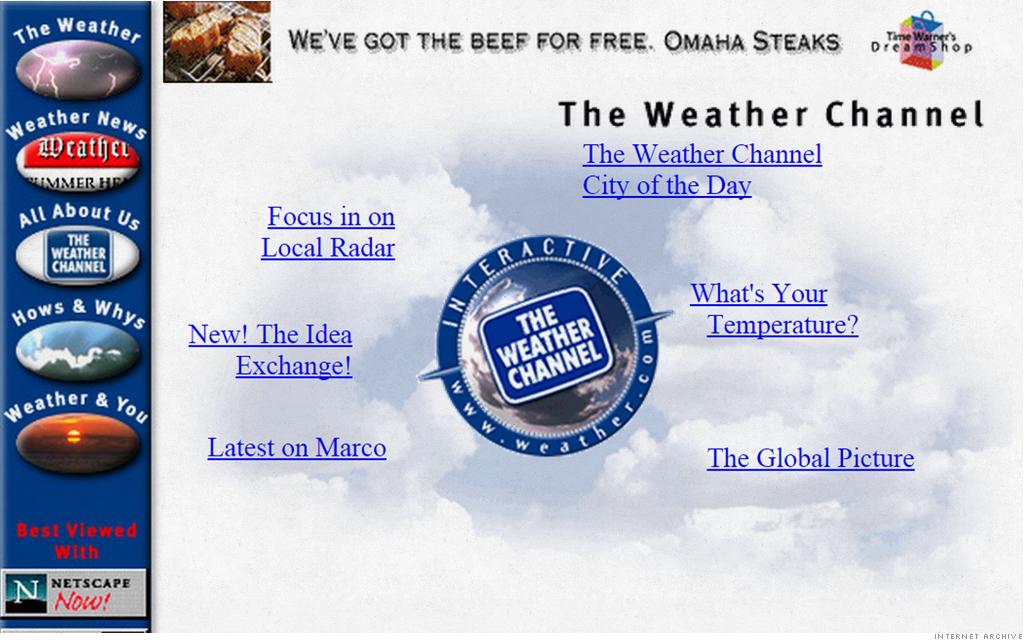 weather.com, old website, website, website optimization, web design, seo, social media marketing, social media