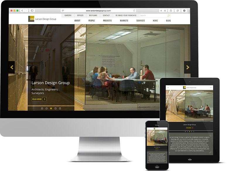 Website Design and Development for Mobile Devices, Larson Design Group, Sitemap Planning, Website Design, Web Design, Web Development, Larson Design Group site, Responsive web design