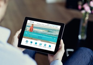iPad and Tablet Design for a responsive website in the healthcare field by Push10