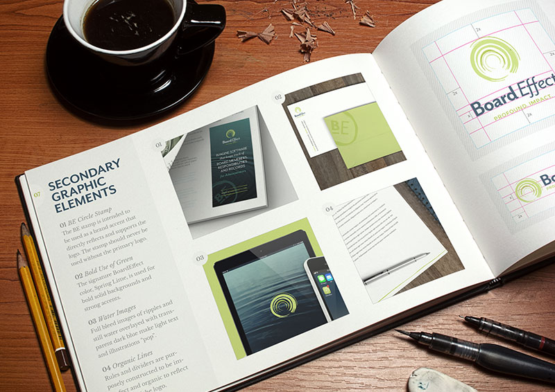 BoardEffect Branding Book and Style Guide by Push10 Design, BoardEffect, BoardEffect Logo, Branding, Push10, Brand Identity, Brand Strategy, Brand Development, print, print design