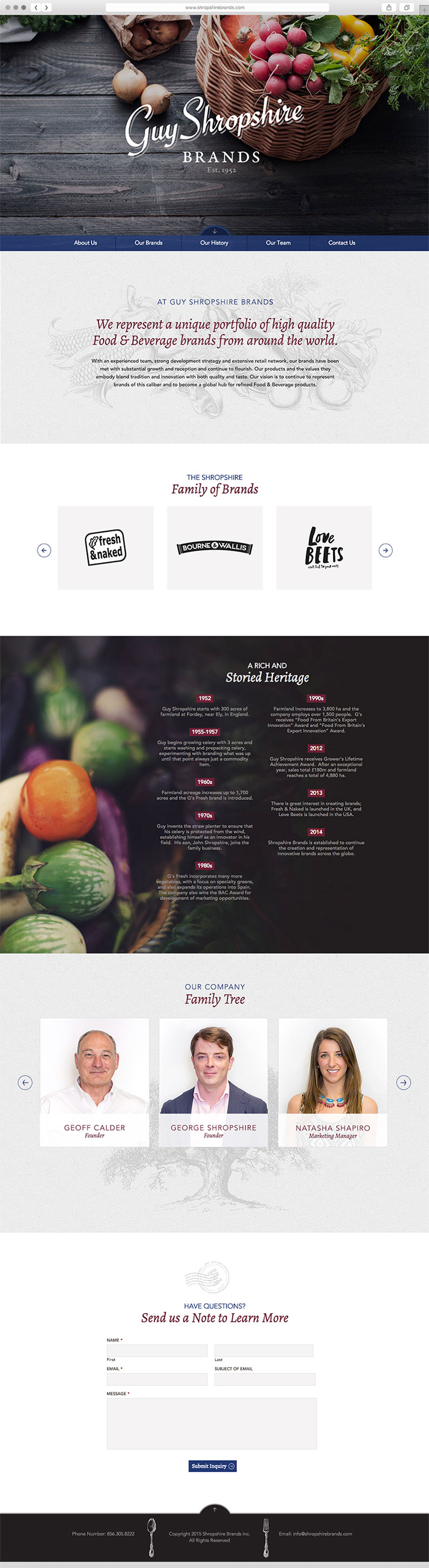 User Friendly Web Design for the Food and Beverage Industry by Push10, Guy Shropshire brands website