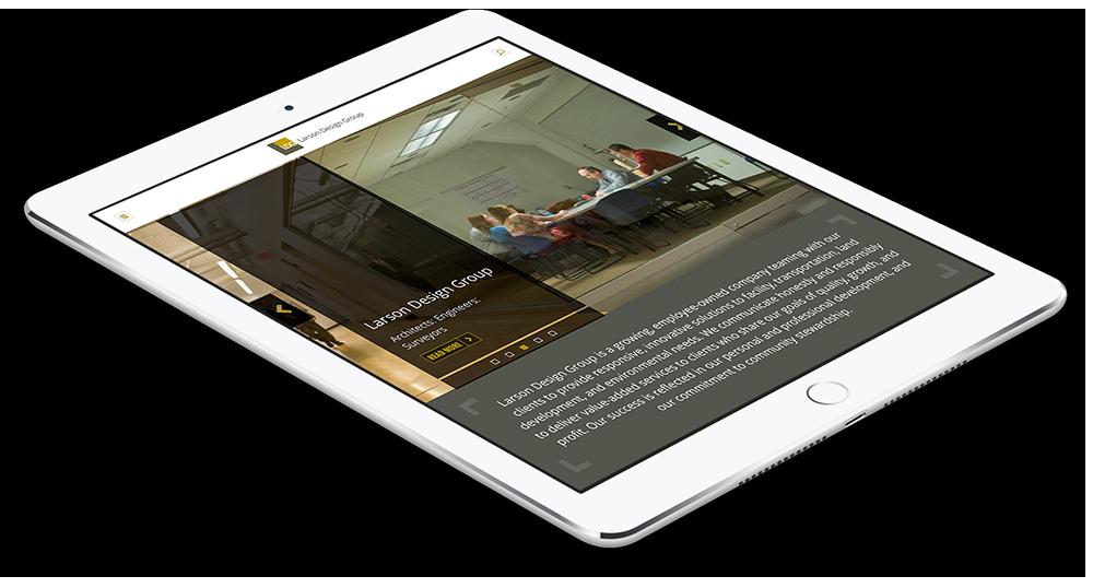 Responsive Web Design Work on Tablet, Larson Design Group, Sitemap Planning, Website Design, Web Design, Web Development, Larson Design Group site