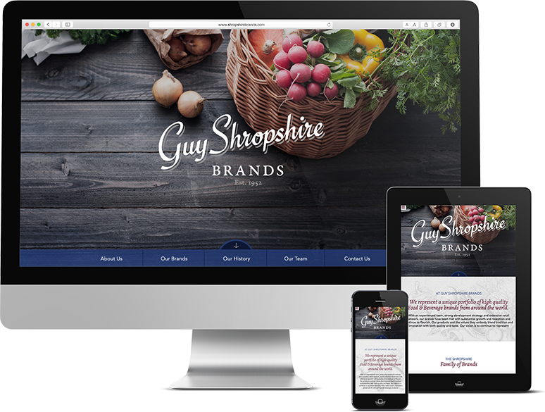 Website Design and Development for Philadelphia Food & Beverage Brand