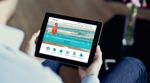 Tablet with Responsive Website Design for Philadelphia Healthcare