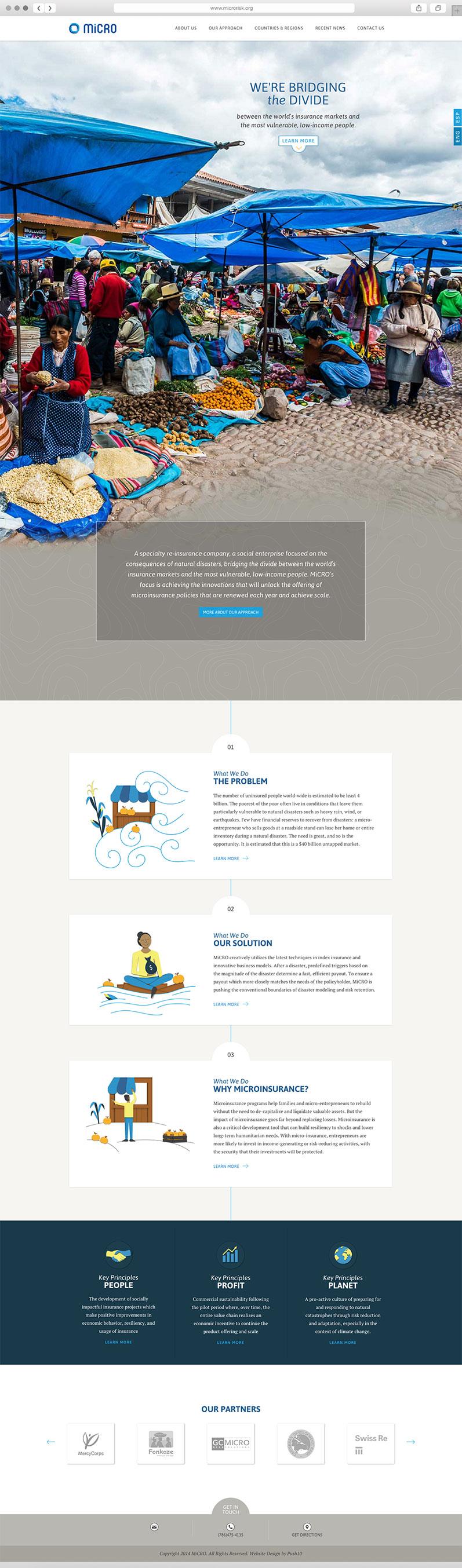 Responsive website interface design for Philadelphia insurance company