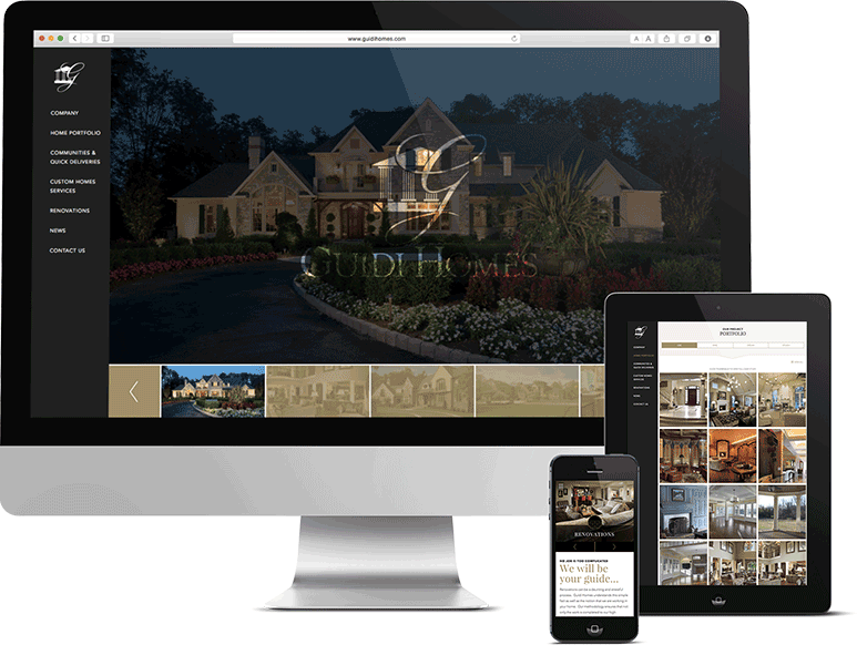 Responsive website design and development for Philly construction firm, guidi homes, guidi, guidi website, push10, push10 web development, responsive web design