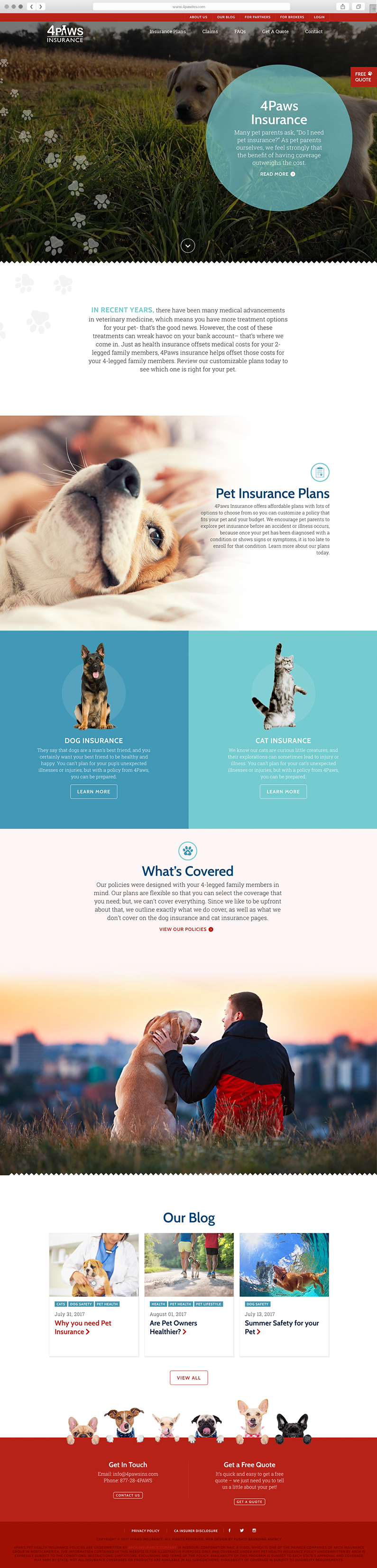 Pet Website Design