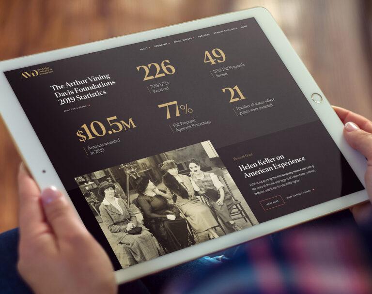Foundation Impact Statistics on Website