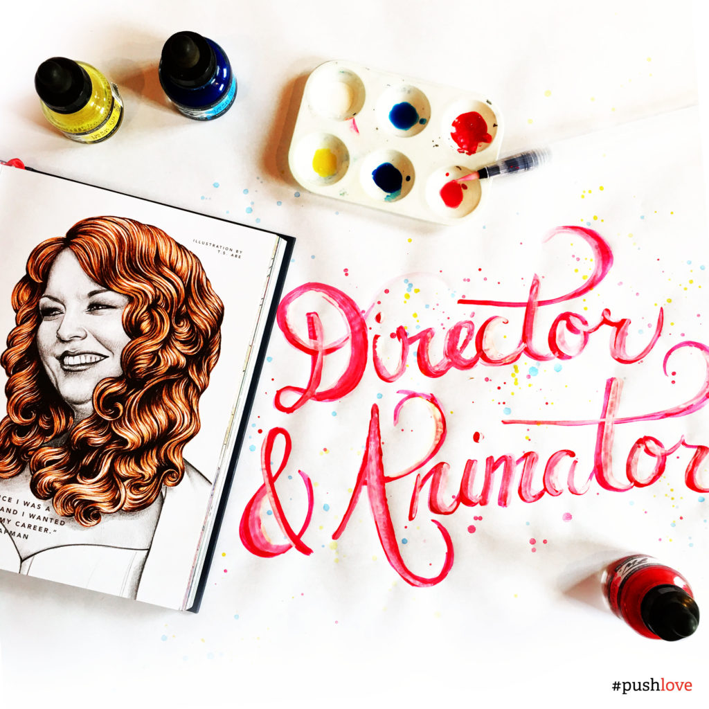 international womens day, women in ux, director and animator, brenda champan, custom illustration