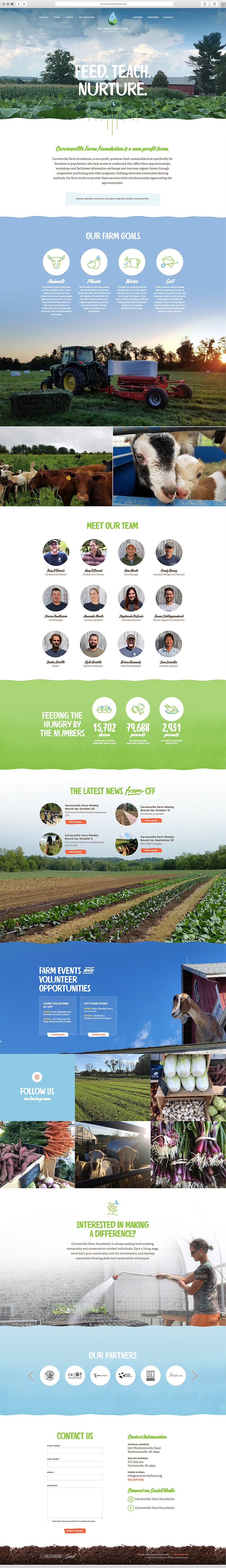 User interface design for Carversville Farm Foundation by Push10