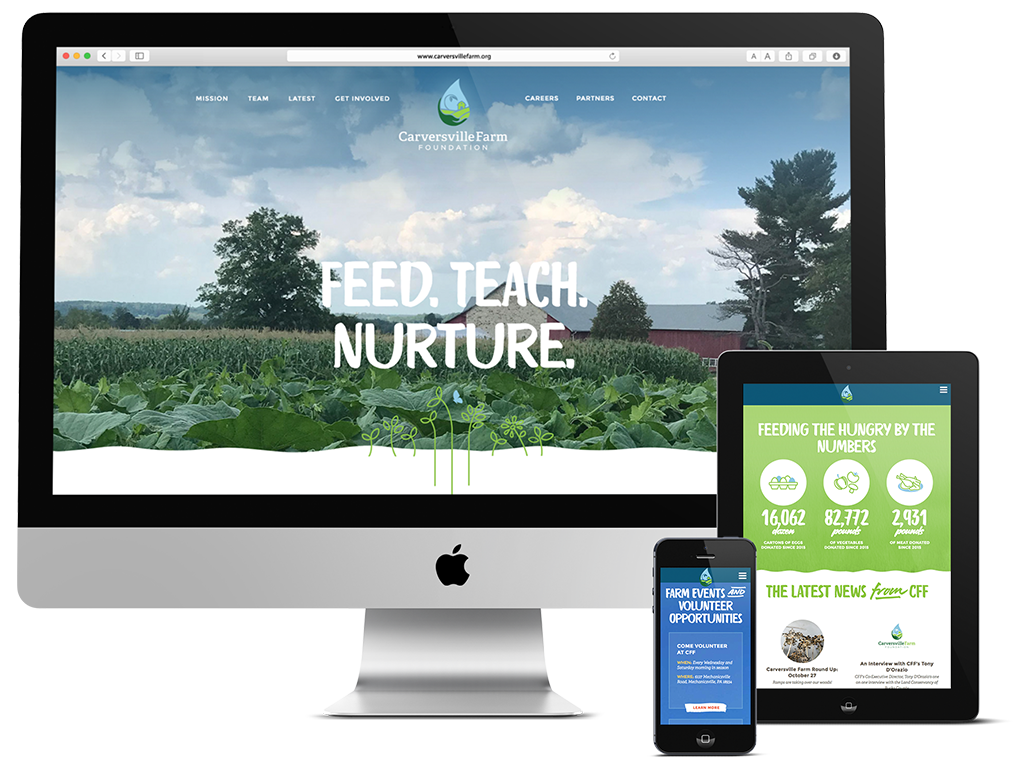 Responsive web design for non-profit in the Philadelphia organic food industry