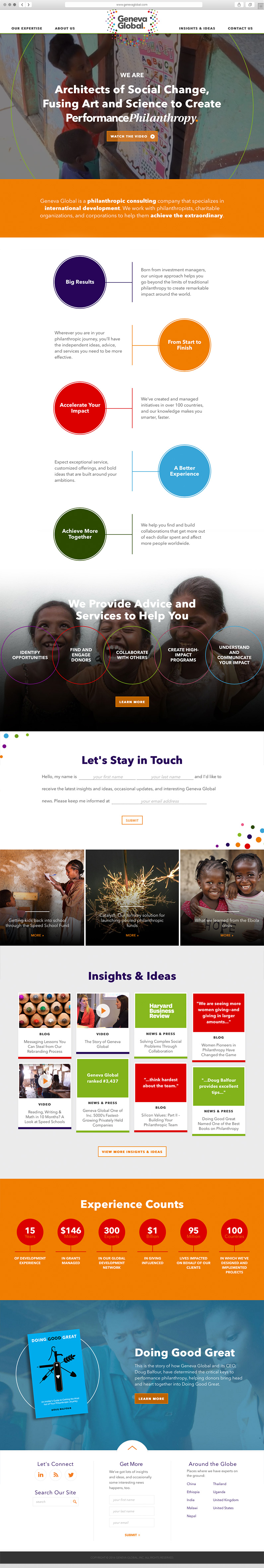 Web Design and Branding Execution for Philadelphia Non-Profit and Foundation Consultants, NPO digital marketing, non-profit website design, Geneva Global, Geneva Global Website, Push10, Philadelphia, Custom Photography, Web Design, Web Development