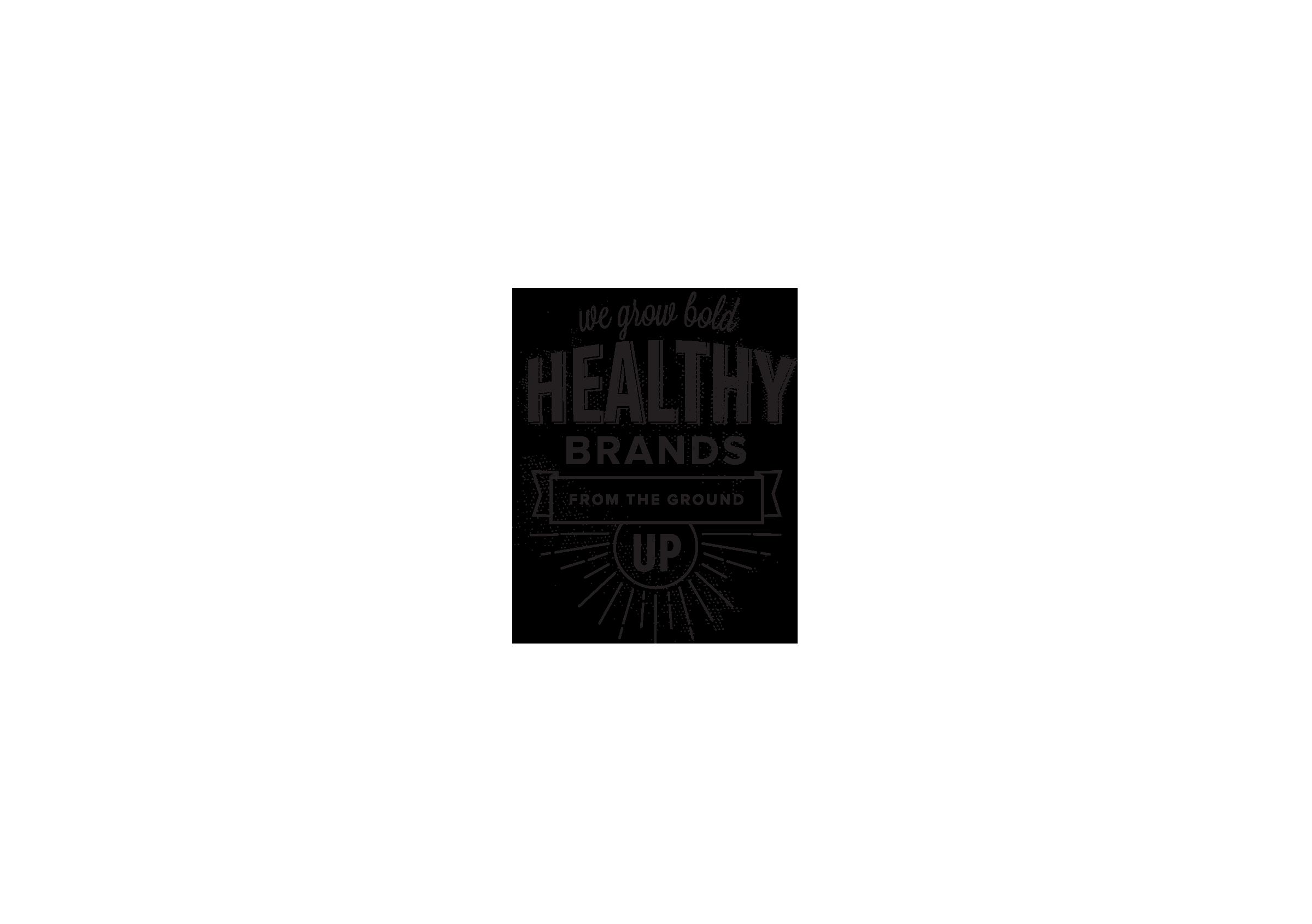 healthy brands website design graphic