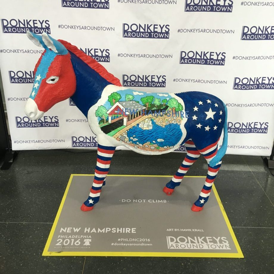 DNC philadelphia, push10 blog, democratic national convention 2016, dnc, donkeys around town, patriotic donkey, patriotic art