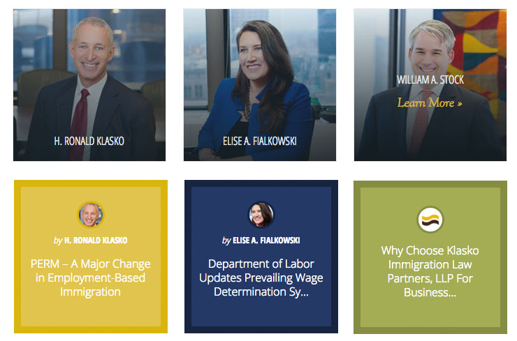 klasko, klasko law, employee bios, web design, legal web design, push10, philadelphia web development