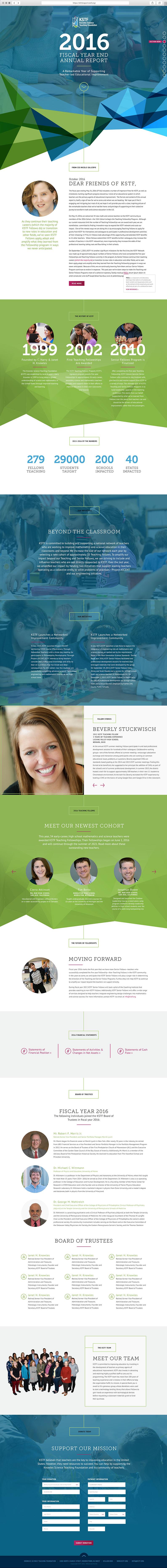 KSTF non-profit microsite web design
