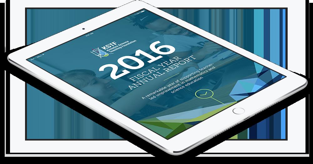 KSTF responsive website on tablet