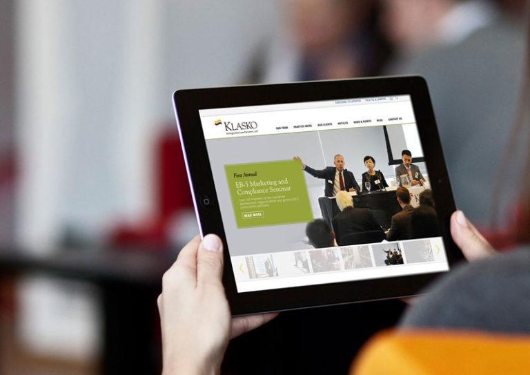 klasko, klasko law, web design, legal web design, push10, philadelphia web development