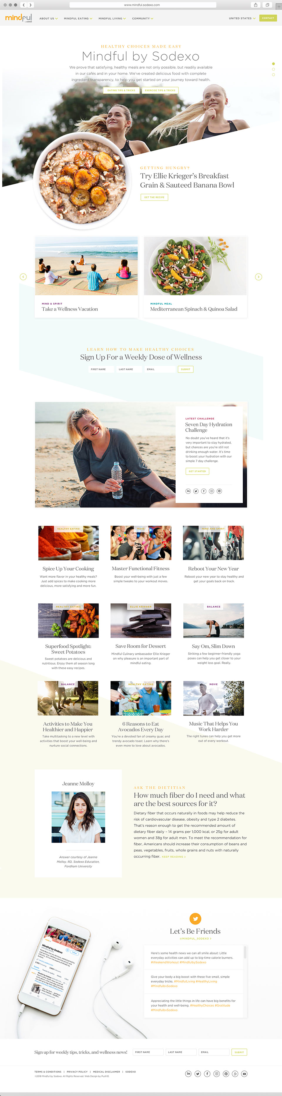 Web Design for Sodexo, a Healthy Living Brand
