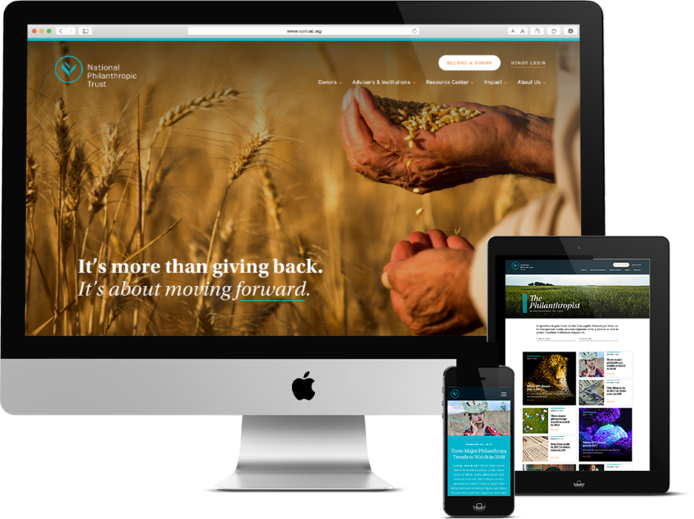Push10 Responsive Web Design for Philadelphia nonprofit organization