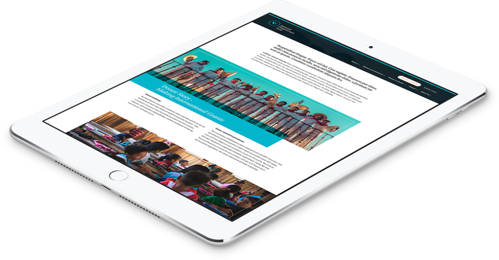 Philadelphia Web Design for Public Charity shown on mobile device