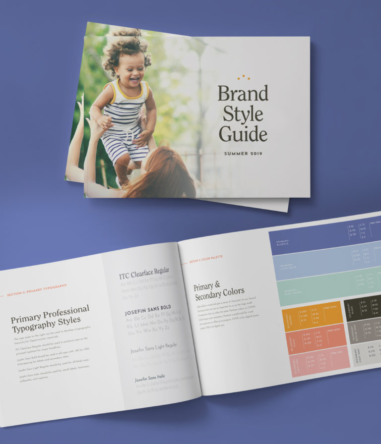 Brand Style Guide Design for Austin Nonprofit by Push10