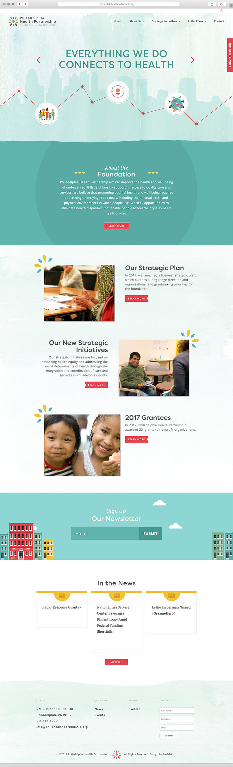 Interface and UX Design for non-profit, Philadelphia Health Partnership created by Push10