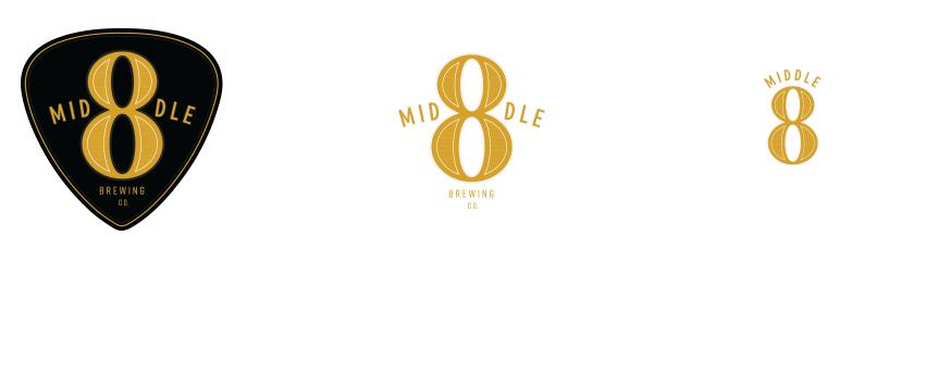 Responsive logo design for Philadelphia Middle 8 Brewing