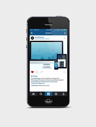 Push10-Social-Media-Instagram-Design-Web-Development, push 10, social media, social media marketing, instagram
