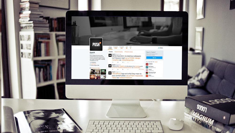 Push10-Twitter-Web-Design-Social-Media-Development, Push10, Web Design