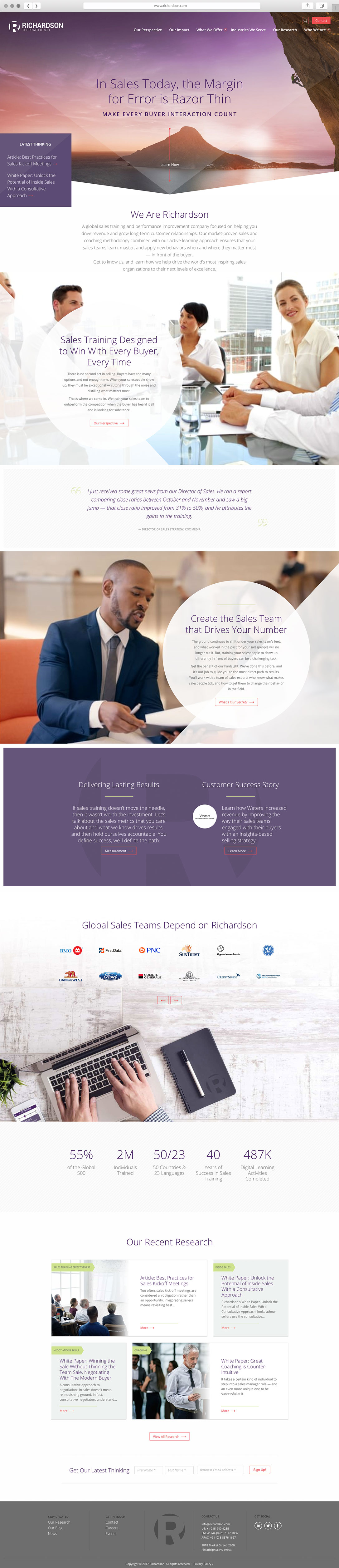 User Interface Design for Corporate Website