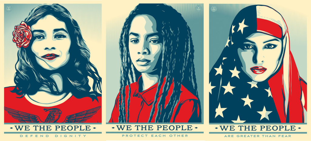 Shepard Fairey, Hope, Push Love, Pushlove, push10, Philadelphia, hope, we the people, 2017 political poster