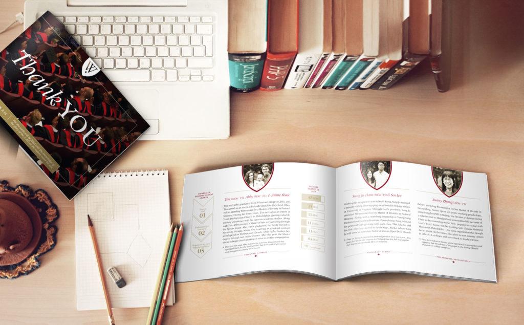 Brochure Design for Philadelphia Higher Education, westminster website, push10 web design, westminster logo, push10 branding