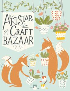 art star craft bazaar poster in philadelphia