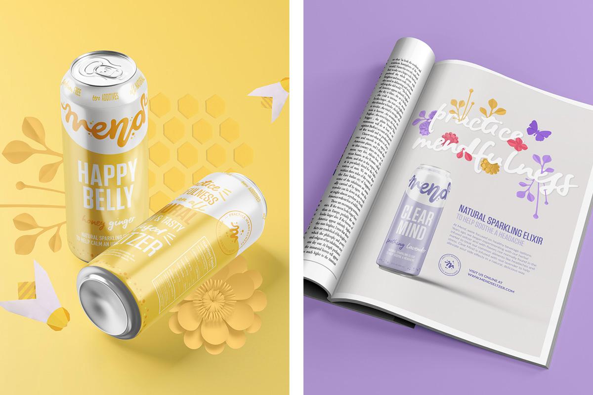 Packaging Design for Seltzer Beverage Brand