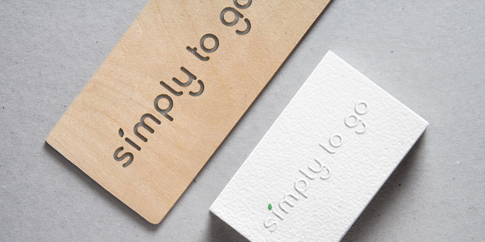 Business card design for food company brand identity