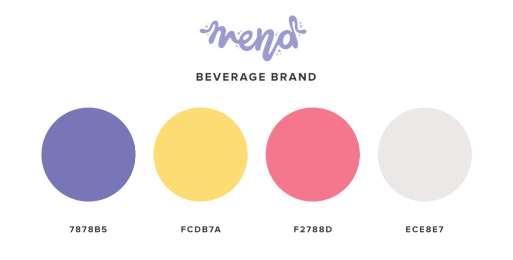 Beverage Color Palette for Branding and Brand Strategy