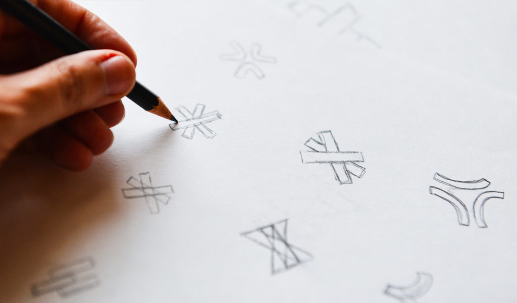Logo Design Sketches for Branding and Brand Strategy