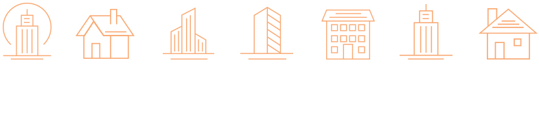 Modern icon designs for construction company in Philly