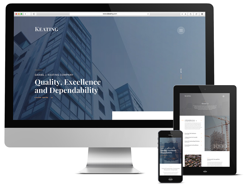 Responsive web design for Philadelphia construction company