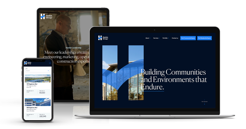 responsive web design for construction company
